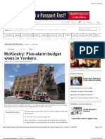 Five-Alarm Budget Woes in Yonkers - Gerald McKinstry