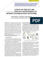 UTILIZATION OF THE EFA-300 FOR CONTINUOUS MONITORING IN SEMONT INFORMATION NETWORK