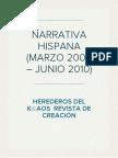 NARRATIVA HISPANA (MARZO 2006 – JUNIO 2010) Revista de creación Herederos del K(c)aos