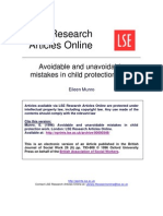 MUNRO Avoidable and Unavoidable Mistakes in Child Protection Work