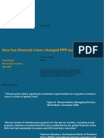 How the Financial Crisis has Changed the Market for Public Private Partnerships (PPPs)