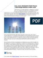Flavio Cattaneo, elettrodotto Italia-Francia più energia elettrica a minor costo