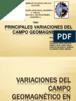 Principales Variaciones Del Campo Geomagnetico