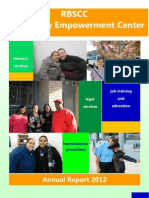 RBSCC Community Empowerment Center Annual Report 2012