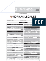 Normas Legales 31-12-2012 No Laborales 2013-DS 123
