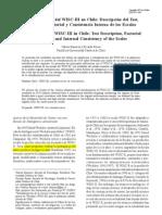 Estandarización del WISC-III en Chile Descripción del Test