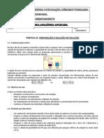 PRATICA 01 - Como preparar soluções