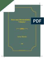 Artur Morao Hermeneutica Do Classico