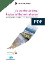 Evaluatierapport aanbesteding DCM Kaden Wilhelminahaven
