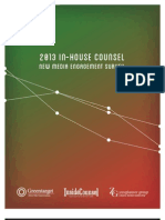 2013 In-House Counsel New Media Engagement Survey