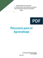RECURSOS PARA EL APRENDIZAJE DEFINICIÓN