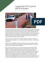 Rwanda, Un Rapport de l'ONU Pose La Question Du Role de La France - Le Monde - 1 juin 2012