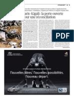 120111.Paris Kigali, la porte ouverte pour une reconciliation - Liberation