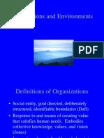 Organizations and Environments Fall20032