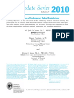 Radical Prostatectomy (Open and Robotic) Complications- Summary Review AUA Update 2010