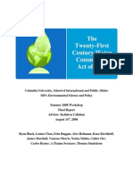 Twenty First Century Water Commission Act Final Report