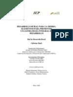 Desarrollo-Rural-Para-La-Sierra-Elementos Para Promover Una Estrategia Integral de Desarrollo