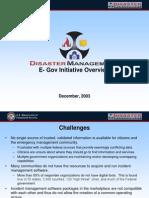 Disaster Management Overview Presentation