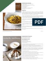 Recetas tradicionales italianas - Sicilia