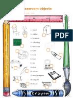 Classrom Objects - Worksheet