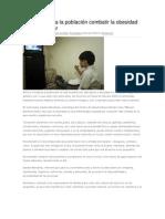 12/07/13 oaxacahoy Exhorta SSO a la población combatir la obesidad desde el hogar