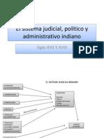 El sistema judicial, político y administrativo indiano