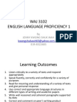 WAJ 3102 Course Briefing
