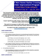 Details of lane and ramp closures and other traffic impacts July 27-29