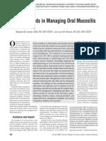 Current Trends in Managing Oral Mucositis