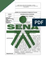 Estructura Curricular General Del Programa Contab y Finanzas