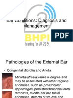 Tertiary Ear Conditions Diagnosis and Management