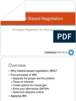 Interest Based Negotiation