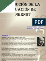 DEDUCCIÓN DE LA ECUACIÓN DE NERST