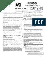 Indonesian Flu Inactive
