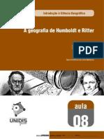A Geografia de Humboldt e Ritter