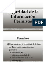 Permisos en Informix