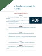Calendario de Celebraciones de Las Naciones Unidas