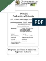 Primera Evaluacion a Distancia 2013