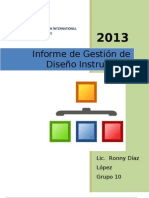 Informe Gestion Diseño Instruccional Ronny