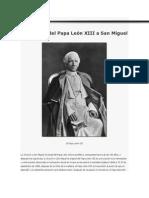 La oración del Papa León XIII a San Miguel