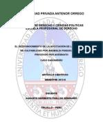 eldesconocimientodelaafectacindelacapacidaddeculpabilidadporanomalapsquicaenelasesinato-130117085100-phpapp01