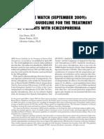 Schizophrenia Guideline Watch