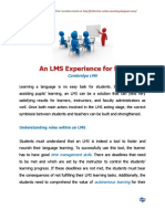 An LMS Experience for EFL
