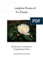 The Complete Poems of Yu Xuanji