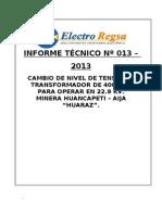 Informe Huancapeti . Servicio Inicial.