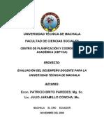 EVALUACION DEL DESEMPEÑO DOCENTE 2009_facultad de ingenieria civil