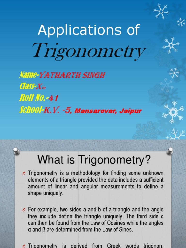 Ppt on Trigonometry(class 10) | Fungsi Trigonometri