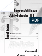 Atividade 3 - Caderno 3 - Matematica
