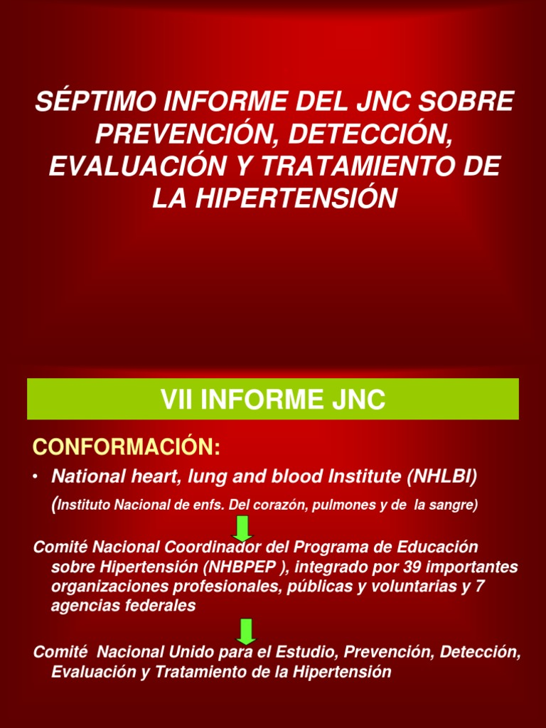 Informe de jnc sobre hipertensión