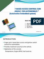 Car Access Console